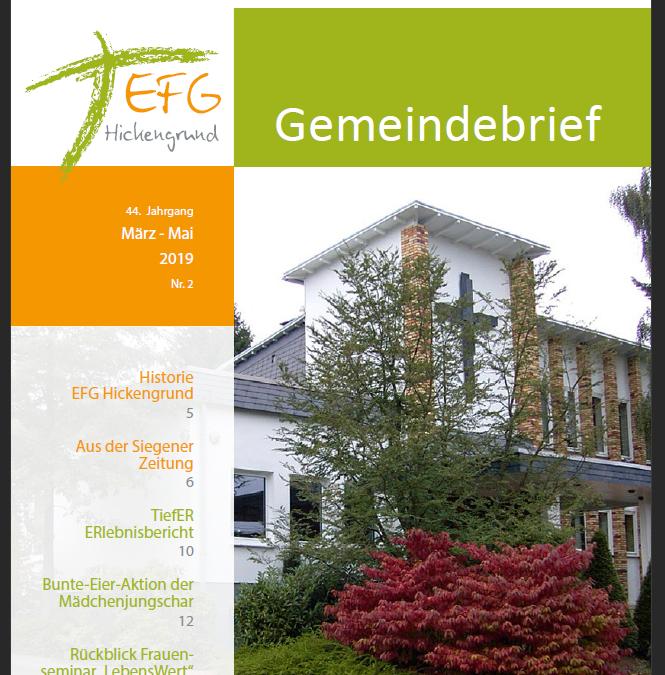 Gemeindebrief 2019-2 (März-Mai)